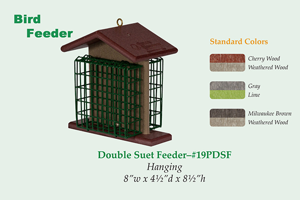 Amish Recycled Poly Double Suet Feeder