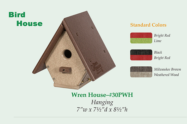 Amish Recycled Poly Wren House