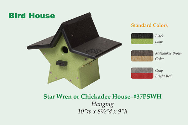 Amish Recycled Poly Star Wren House