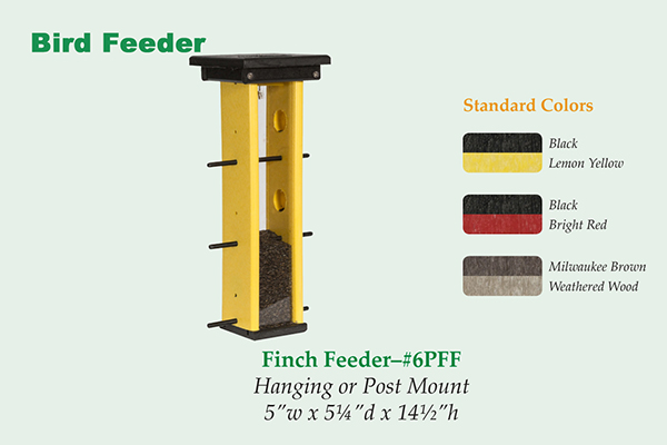 Amish Recycled Poly Finch Feeder