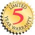 Limited 5 Year Warranty